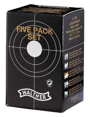 Pellets Walther Five Rack Set - 4,5 mm