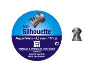 Air gun pellets H & N Silhouette 5.5 mm.