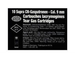 Gas cartridge CN-SUPRA 9mm Revolver