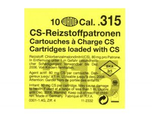 CS Gas Cartridges Cal. .315 Pistol