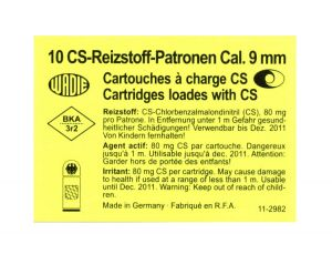 CS Gas Cartridges Cal. 9mm Revolver