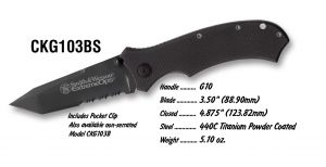 KNIFE S&W CKG103B
