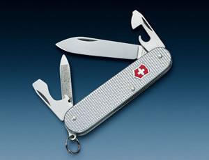 KNIFE Victorinox Mod. Cadet - METAL, RIBBED